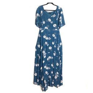 TORRID Floral Challis Maxi Dress Size 24